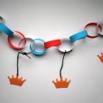 Koningsdag-slinger-knutselen